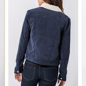 HYFVE Jackets & Coats - Corduroy Shearling Lined Cropped Jacket